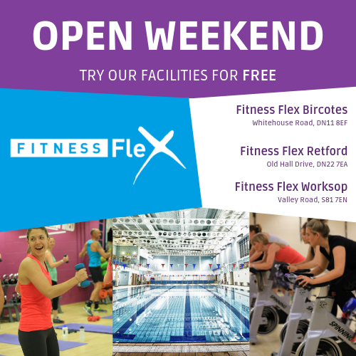 TRY FITNESS FLEX FACILITIES FOR FREE AT BIRCOTES, RETFORD & WORKSOP