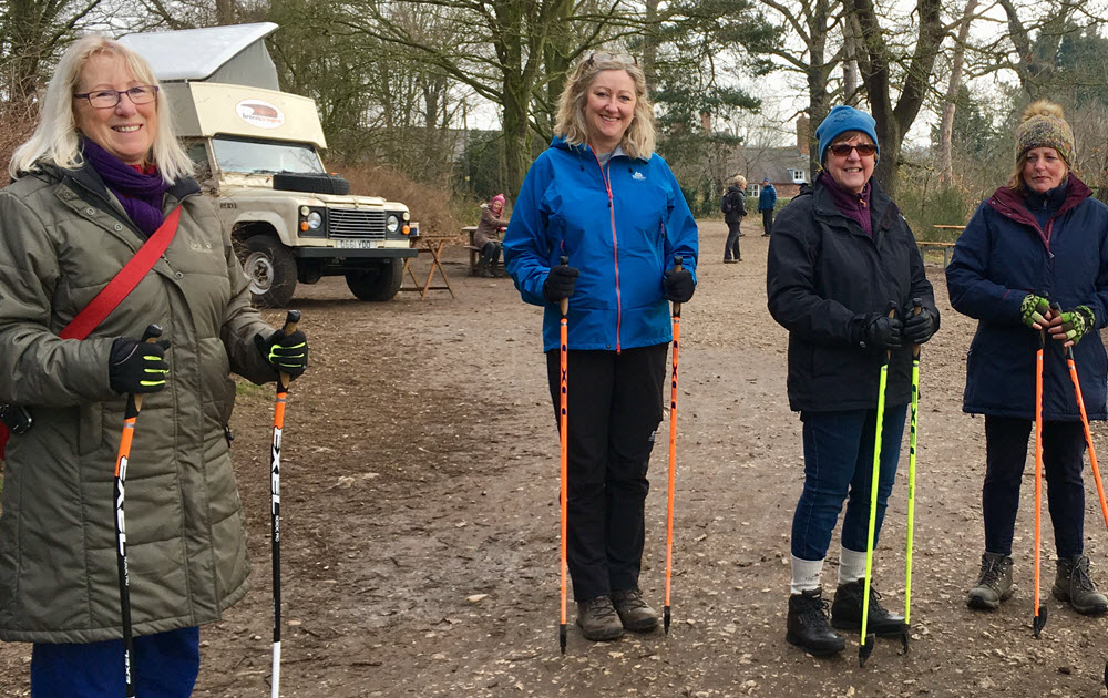 Nordic Walking Group resting North Notts Uncovered Blog2