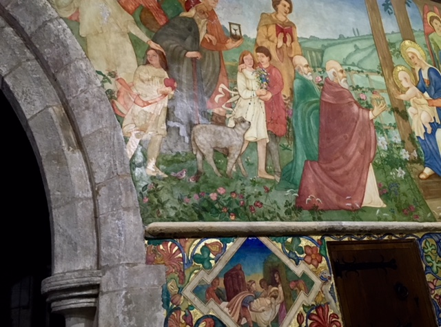 Traquair Murals in Clayworth Church North Notts taken by North Notts Uncovered