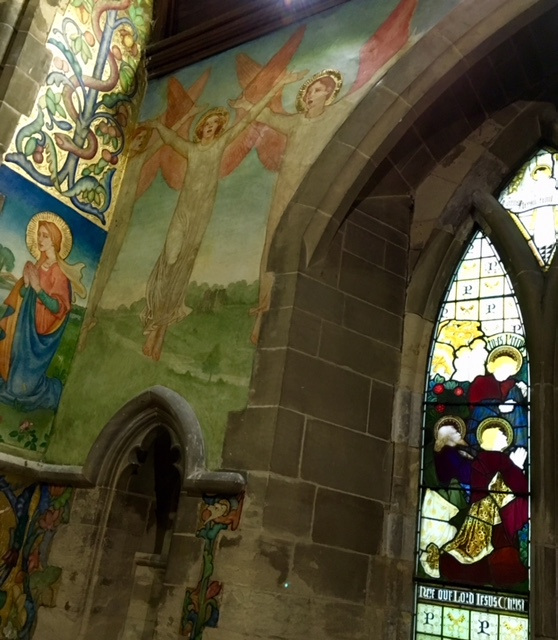 Traquair Murals in Clayworth Church North Notts taken by North Notts Uncovered 3