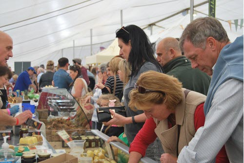 food marquee at festival of food and drink