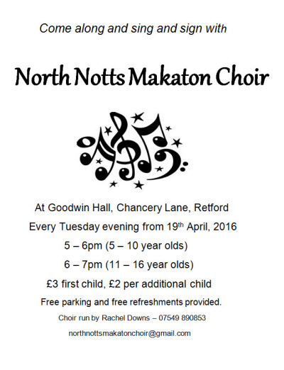 north notts makaton choir blog