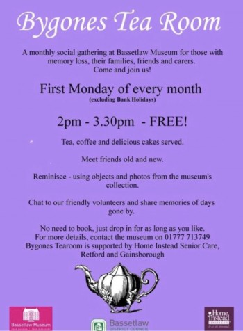 bygones tea room weekly group retford