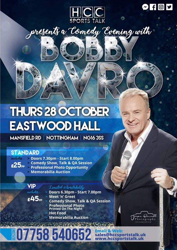 Bobby Davro Comedy evening poster
