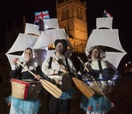 Pilgrim Festival events rhubarb theatre outside st swithun's by electric egg pilgrim roots.jpg