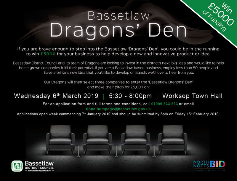Bassetlaw Dragons' Den is back!