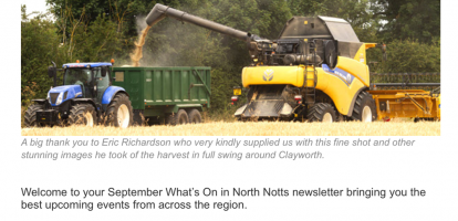 September's What's On in North Notts Events Newsletter